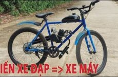 độ xe đạp thành xe máy