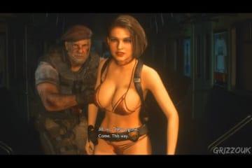 Resident Evil 3 Remake Jill Valentine in Hot Metallic Pink Bikini PC Mod